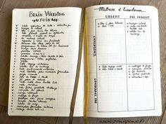 brain washing / gestion des priorités / organisation / bullet journal