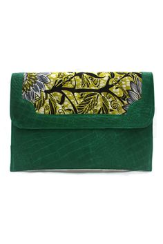 GREEN ENVELOPE CLUTCH  By Oeclat Designs #ItsAllAboutAfricanFashion