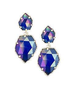 Quincy Delicate Earrings in Iridescent Cobalt - Kendra Scott Jewelry. Coming October 15!