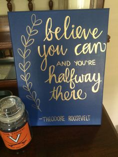 Painting Inspiration Ideas Screens Inspirational Quotes 45 Ideas Source by christi Canvas Crafts, Diy Canvas, Gold Canvas, Canvas Paper, Do It Yourself Inspiration, Little Presents, Sorority Crafts, Chalkboard Art, My New Room