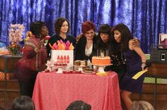 It's Aisha Tyler's birthday party on The Talk! HAPPY BIRTHDAY AISHA!!