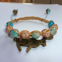 Shamballa style Bronze Hare (Rabbit) bracelet £8.00
