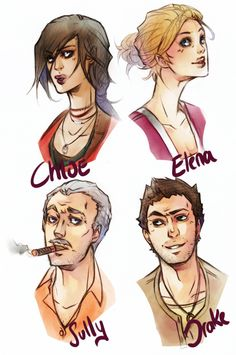 Uncharted Heads by XMenouX.deviantart.com on @deviantART