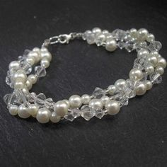 handmade wedding jewellery #crystals #pearls #jillybeads