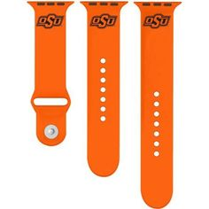 Ncaa Oklahoma State Cowboys 42mm Silicone Sport Band fits Apple Watch, Size: Medium/Large, Multicolor