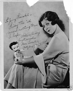 The voice of Betty Boop. Mae Questel (1908 - 1998) and Betty Boop. ☀