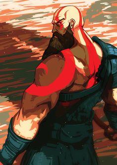 Kratos by Panickerz on DeviantArt Character Art, Character Design, Kratos God Of War, Video Game Art, Greek Mythology, Cartoon Art, Videogames, Fantasy Art, Concept Art