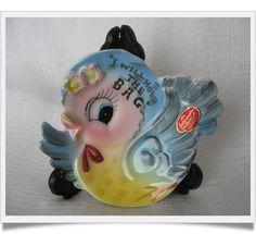 Lefton Bluebird Tea Bag Holder