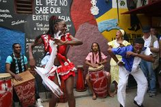 """Afro Cuban Dancers... hand drums including the congas, bata, cahon... just make """"el ritmo"""" and the dancers will appear..."""