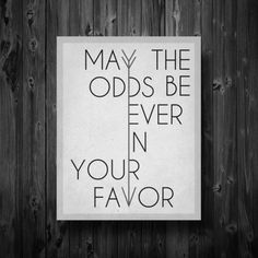 MAY THE ODDS BE EVER IN YOUR FAVOR  THE HUNGER GAMES!!