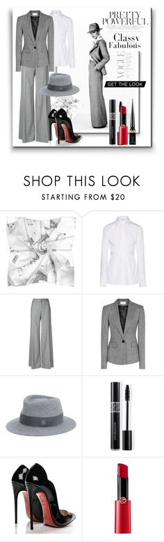 """Pretty Powerful"" by kelly-floramoon-legg ❤ liked on Polyvore featuring Helmut Lang, Alexander McQueen, Reiss, Maison Michel, Christian Dior, Christian Louboutin, Giorgio Armani, womensFashion and powerlook"