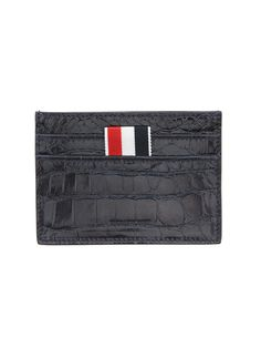 Thom Browne   Leather Goods   Credit Card Holder In Navy Alligator