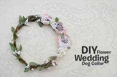 How to make a DIY flower collar for your fancy pup!