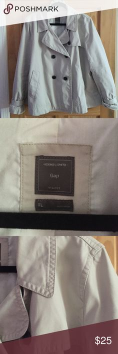GAP Rain Coat Beige GAP rain coat. Great condition. Free gift included with purchase!  GAP Jackets & Coats Trench Coats