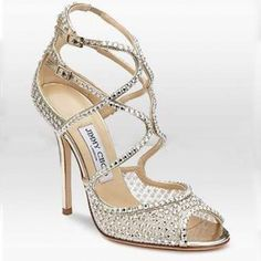 Jimmy Choo Diamante Embellished Mesh Sandal Gold