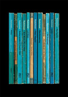 Radiohead 'OK Computer' Album As Books Poster Print by StandardDesigns on Etsy https://www.etsy.com/listing/151488354/radiohead-ok-computer-album-as-books