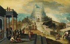 Hendrick Van Cleve III (Anvers vers 1525 - entre 1590 et 95), La Tour de Babel. Photo Sotheby's