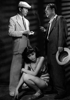 Toshiro Mifune with Takashi Shimura and Keiko Awaji ~ Nora Inu - (Stray Dog) 1949