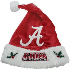 Alabama Crimson Tide Santa Hat! Check out all of the Bama Holiday decor here: http://pin.fanatics.com/COLLEGE_Alabama_Crimson_Tide_Accessories_Holiday_Items/source/pin-bama-hoilday-items-sclmp