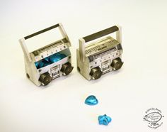 DIY Paper Toy / Favor Box / Container   Miniature Realistic Boom Box Music System   Printable A4size pdf template   Instant digital download...