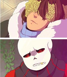 Frisk and Sans - FlowerFell #AU #gif #crying<<<my friend said: wow he's crying blood how edgy<<<same