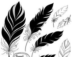 Illustration of Vector Peerless Decorative Feather, Tribal design, Tattoo vector art, clipart and stock vectors. Feather Clip Art, Tribal Feather, Feather Design, Feather Drawing, Feather Vector, Tattoo Plume, Feather Tattoos, Tatoos, Art Terms