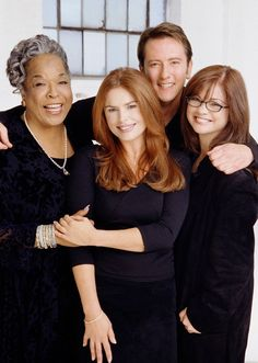"""""""Touched By An Angel"""" cast: Della Reese, Roma Downey, John Dye & Valerie Bertinelli. Great Tv Shows, Old Tv Shows, Movies And Tv Shows, Tv Actors, Actors & Actresses, John Dye, Della Reese, Roma Downey, Touched By An Angel"""