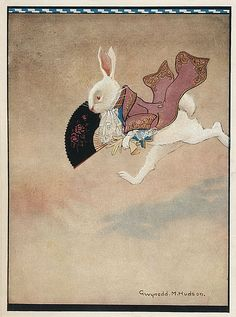 Gwynedd M. Hudson - The White Rabbit From Alice's Adventures in Wonderland, published by Boots, undated,
