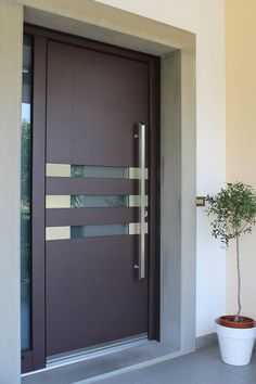ideas main door design modern decor for 2019 Main Door Design, Wooden Door Design, Front Door Design, Bedroom Door Design, Door Design Interior, Entrance Design, Contemporary Front Doors, Modern Front Door, Modern Exterior Doors