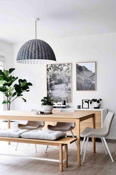 Modern Scandinavian Interior, Scandinavian Style Home, Scandi Home, Scandinavian Living, Scandinavian Dining Table, Stylish Interior, Scandinavian Furniture, Home Living Room, Living Room Decor