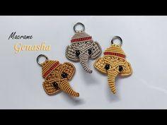 Macrame Cord, Macrame Earrings, Macrame Jewelry, Ganesha, Chevron Friendship Bracelets, Diy Keychain, Paracord Keychain, Micro Macramé, Macrame Patterns