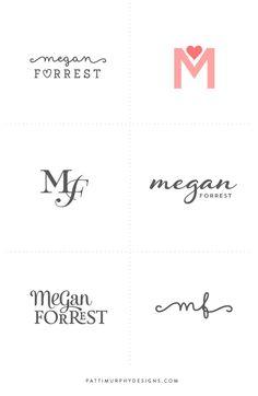 Logo Exploratory // Patti Murphy Designs feminine, life coach, heart branding, Megan Forrest coaching