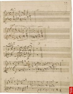 Mozart's handwritten music