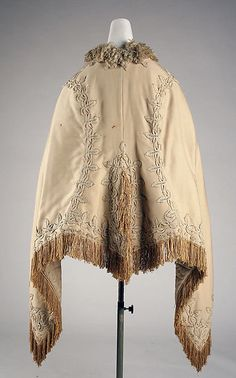 Wedding cape  Date: ca. 1870 Culture: probably French Medium: wool, silk Accession Number: C.I.51.29.2