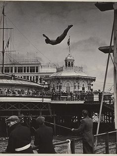 The Palace Pier, Brighton, East Sussex [1935 Felix H. Man].