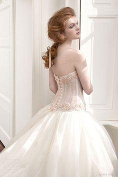 atelier aimee 2013 drop waist ball gown wedding dress corset back  | followpics.co