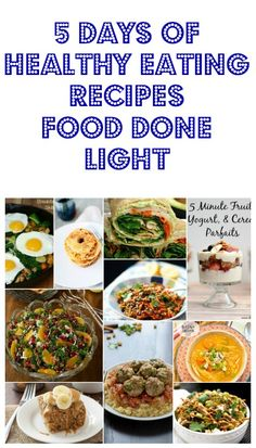 Pin this for 5 days of Healthy Recipes - Low Calorie, Low Fat Breakfast, Lunch & Dinner Ideas