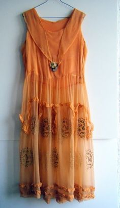 RESERVED do not buy...1920's peach dream crepe silk and metal filigree flapper dress with matching underdress