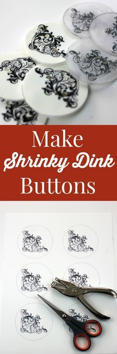 Make Shrinky Dink Buttons - Fun Crafts Project! - The Graphics Fairy. This is such a fun and easy project, with Printable Shrink Film you can make Buttons with any Design!