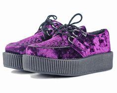 neeeedddd  Purple Velvet Creepers   T.U.K. Shoes