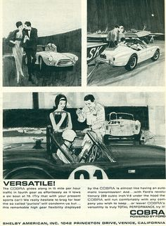 1964 Shelby Cobra literature, can't imagine towing with one of these though.