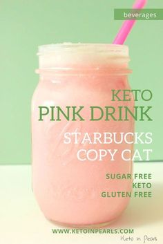 Learn how to make this keto pink drink from Starbucks at home with this step by step guide and you can save yourself money too by making this at home! Add this easy healthy drink recipe to your keto recipe ideas for a great sugar free pink drink option! Desserts Keto, Keto Snacks, Low Carb Drinks, Healthy Drinks, Healthy Milkshake, Healthy Fats, Yummy Drinks, Ketogenic Recipes, Low Carb Recipes