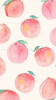 Browse around this site for perfect wallpaper ideas. These interesting background pictures will brighten your day. Peach Wallpaper, Watercolor Wallpaper, Summer Wallpaper, Iphone Background Wallpaper, Kawaii Wallpaper, Cute Patterns Wallpaper, Aesthetic Pastel Wallpaper, Aesthetic Wallpapers, Aesthetic Backgrounds