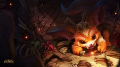 League of Legends Champion Gnar. He's played usually as a top bruiser, which is my favorite!