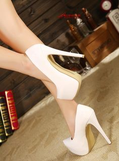 2013 New arrival Sexy fashion ol high heeled platform woman shoe with extra size 35 45-inPumps from Shoes on Aliexpress.com
