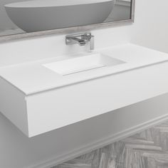 Transform any bathroom space with our modern single basin wall-mounted vanity units. This single sink washstand, designed by Galfia, combines one of our sleek and solid Corian® Texas vanity top with a single drawer under-basin unit. Oak Vanity Unit, Freestanding Vanity Unit, Bathroom Drawers, Bathroom Furniture, Corian Sink, Corian Colors, Basin Unit, Wall Mounted Vanity, Vanities
