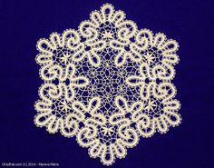 Blue Frost - doily, Vologda bobbin lace