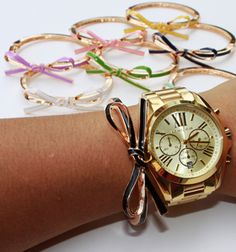 """Today is the last day to get this Kate Spade-inspired bow bracelet for only $6.99 at VeryJane.com! It's available in 13 colors including blue, yellow, pink, green, black and more. The Kate Spade version of this bracelet is $78.00 at KateSpade.com. Visit VeryJane.com and select """"Inspired Kate Spade Bow Bangle"""" to get started. Inspired Kate …"""