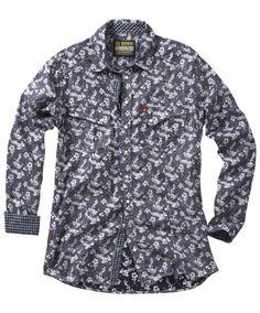 c0f710ce811d1 Joe Browns Spring Floral Shirt - subtle flowers on a dark background for  all the men