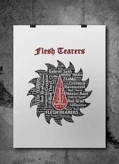 Flesh Tearers Warhammer Printable Poster by ZsaMoDesign Warhammer 40k Art, Warhammer 40k Miniatures, Cool Symbols, Space Marine, Coat Of Arms, Sci Fi, Digital Art, Banner, Printables